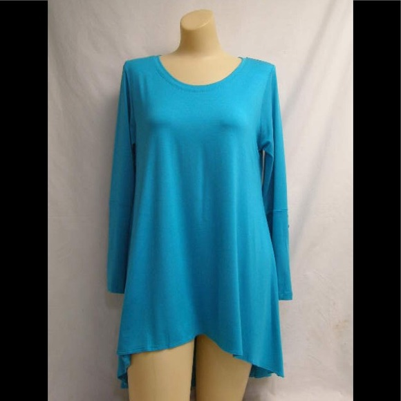 8e08a8ca1d Comfy USA Tops | 1x Or 2x Tunic Top Ocean Blue | Poshmark